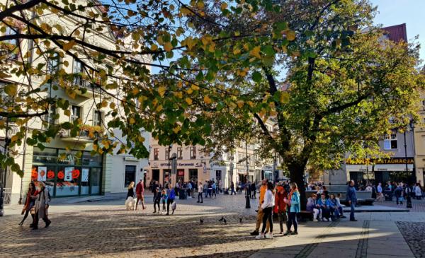 Na zdjęciu: młodzież na Rynku Staromiejskim