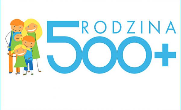 Grafika informująca o programie Rodzina 500 Plus