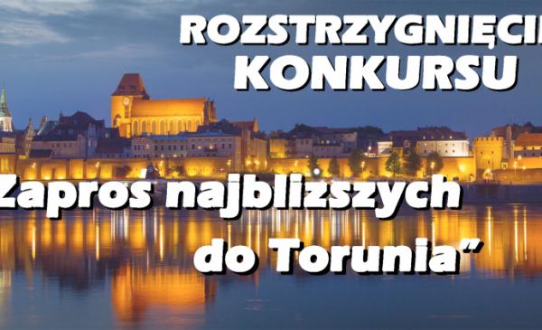 Na zdjęciu widać wieczorną panoramę Torunia