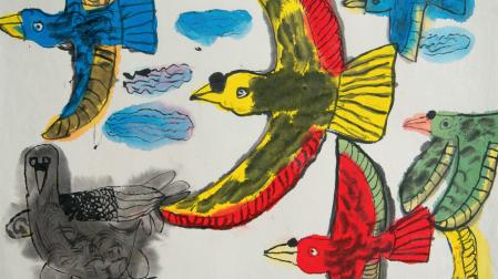praca Wu Qiongi, lat 7 z Chin