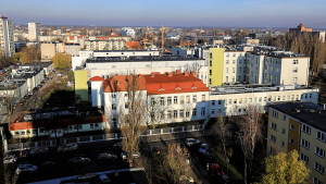 Na zdjęciu: Specjalistyczny Szpital Miejski - widok z lotu ptaka