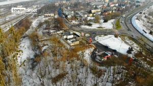 Na zdjęciu widok z lotu ptaka na działkę przy ul. Poznańskiej
