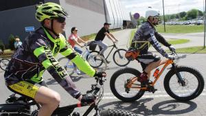 zdjęcie z akcji Toruń na rowery 2019