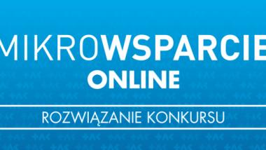 Grafika promująca konkurs Mikrowsparcie on-line