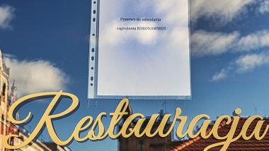 Zdjęcie szyby w restauracji z informacją o zamknięciu