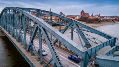 Na zdjęciu: most Piłsudskiego z lotu ptaka