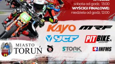 Grafika przedstawia plakat Mistrzostw Polski Pit Bike