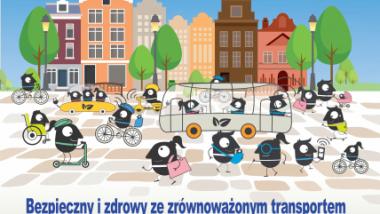 Plakat zapowiadający wydarzenie Europejski Dzień bez Samochodu 2021