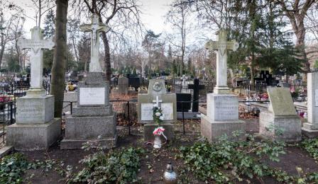 Grób rodziny Szumanów, gdzie pochowana jest Wanda Szuman, na cmentarzu św. Jerzego